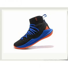 2e1222e33fc1 Under Armour Curry 5 Hight 1298307-401 Black BLUE Basketball