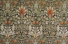 Snakesheadprinted cotton designed by William Morris.