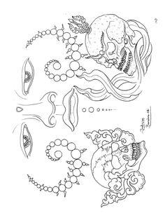 Tibet Art, Paradise Tattoo, Japan Tattoo, Oriental Tattoo, Irezumi Tattoos, Buddha Art, Design Show, Buddhism, Tattoo Designs