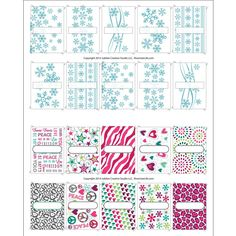 Amazon.com : Girly Snowflake Designer DIY Labels for Lip Balm Tube or Personal Inhaler : Beauty