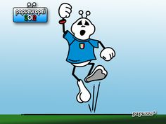 Papu-wallpaper for European 2012  Here is Papù supporter of Italy soccer team.  Go to www.papuzze.it (in the dowload section) and dowload free all the papu-wallpapers!!!