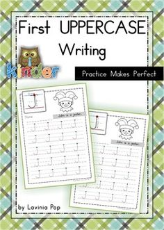 Free uppercase handwriting pages