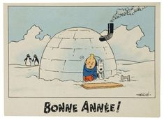 Merry Christmas And Happy New Year, Vintage Christmas, Fictional Heroes, Fictional Characters, Tin Tin Cartoon, Herge Tintin, Vintage Fox, Cartoon Wall, Snoopy