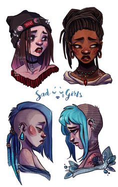 Sad Girls Club by Fukari on DeviantArt http://www.deviantart.com/art/Sad-Girls-Club-577759642