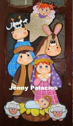 Pesebres tomados de la web :: RT Decoraciones y algo más... Christmas Nativity, Christmas Wood, Christmas Time, Christmas Crafts, Christmas Decorations, Christmas Ornaments, Foam Crafts, Diy And Crafts, Crafts For Kids