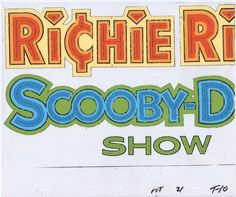 """Scooby Doo Richie Rich 1980 Titles Animation Production Cel & """"drawing"""" 2*"""
