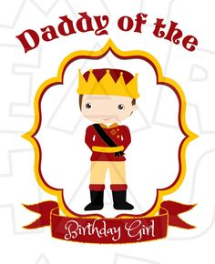 Cute Sofia the First Daddy of the birthday girl INSTANT DOWNLOAD digital clip art :: My Heart Has Ears