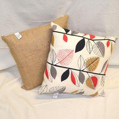 Large Coffee Sack Coffee Sacks, Cushions, Throw Pillows, Fabric, Tejido, Toss Pillows, Toss Pillows, Tela, Pillows