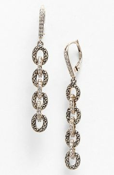 Judith Jack 'Crystal Links' Linear Earrings available at #Nordstrom Judith Jack designs are awesome!