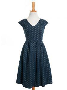 Aurora V-Neck dress blue | Mata Traders: Ethical Fashion