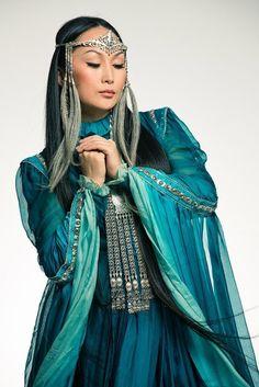 Yakut ethnic singer in Yakutia, Eastern Russia