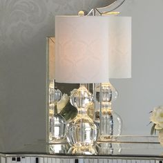 Double Bubble Crystal Table Lamp