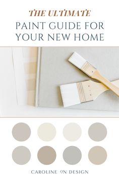 Feeling overwhelmed when you think about choosing paint colors for your new home? Unsure where to even start? I've got you covered in this ultimate paint guide for your new home! Best Interior Paint, Interior Decorating Tips, Interior Design Tips, Exterior Paint Colors, Paint Colors For Home, House Colors, Trim Work, Cool House Designs, Feeling Overwhelmed