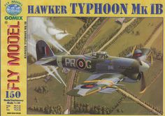 Hawker Typhoon Mk IB (Fly Model 150), 1:33 paper model, maybe good for RC 1:16 conversion.