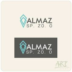 """Logo for the Polish company """"Almaz"""" Ltd, which is engaged in mineral fertilizers wholesale. """"Almaz"""" means """"diamond""""."""