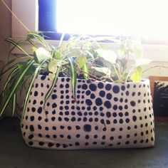 polka dot planter   does anyone know the maker? tumbler makes things so difficult sometimes!