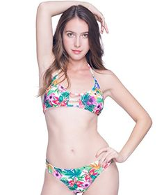 Qpladlse Swimwear Women Tropical Floral Hawaii Bikini Set... https://www.amazon.com/dp/B01MCQDU0G/ref=cm_sw_r_pi_dp_x_.j0tyb80VWMYE