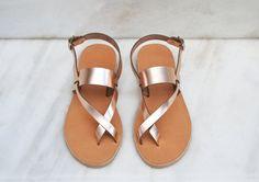 ITHAKI, Leather sandals, Cross strap gladiator sandals women, Greek sandals…