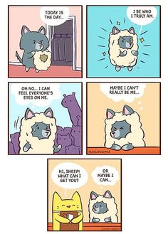 32 Wholesome Comics By Cat's Cafe That Will Brighten Your Day. Cute Comics, Funny Comics, Image Sharing Sites, Cat Cafe, Quiz, Wholesome Memes, Faith In Humanity, Brighten Your Day, Human Emotions