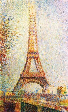 Pointillism - AKA Painting with Q-Tips!