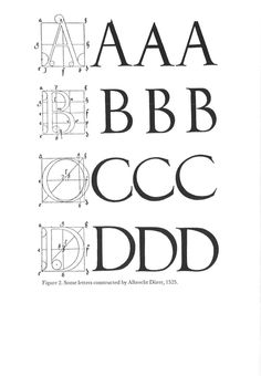 """""""Some letters constructed by Albrecht Dürer, 1525"""" from the The Journal of Typographic Research, October 1968"""