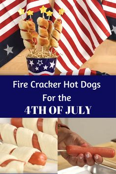 Make These Cute Fire Cracker Hot Dogs for the 4th of July!