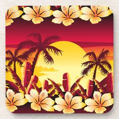 Cold Drinks, Beverages, Holiday Cards, Christmas Cards, Custom Coasters, Christmas Card Holders, Drink Coasters, Palms, Surface Design