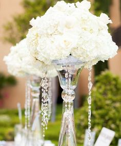 Wedding reception centerpiece idea; Featured Photographer: Stacey Bishop Photograph
