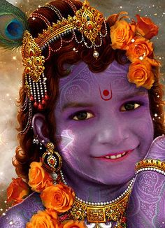 It is not uncommon for Krishna to be replicated in life. Little Krishna
