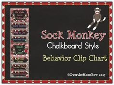 This adorable & fun Sock Monkey themed behavior chart fits in well with the 'green–yellow–red' behavior system used in many schools, yet provides positive recognition for students who go above & beyond. Organization And Management, Classroom Management, Behavior Management, Behavior Clip Charts, Behaviour Chart, Classroom Themes, Classroom Organization, Future Classroom, Sock Monkey Decor