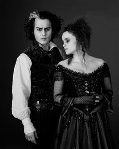 Sweeny Todd and Mrs.Lovett. Well, I love them as a couple! Lol.