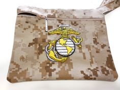 Military Marine Marpat Embroidered Wristlet by GabbysQuiltsNSupply, $19.98