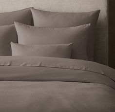 RH's Ultra-Fine Lightweight Cotton Duvet Cover:FREE SHIPPINGOur lightweight combed cotton bedding – woven to a superfine finish – has a cloud-like feel and buttery softness. Sewn with a double layer for enhanced drape and durability, the pieces are prewashed for a relaxed look.