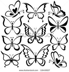 Ideas Tattoo Butterfly Outline White Ink For 2019 Easy Butterfly Drawing, Butterfly Outline, Butterfly Design, Simple Butterfly Tattoo, Butterfly Sketch, Tribal Butterfly, White Butterfly, Butterfly Stencil, Cartoon Butterfly