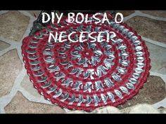 Cómo hacer una bolsa o neceser a crochet reciclando anillas de refresco - YouTube
