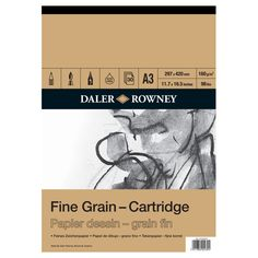 Daler Rowney Cartridge Fine Grain Sketchbook 160 Gsm A3 | Hobbycraft