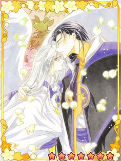 CardCaptor Sakura ~~ Clow Reed and Yue. :: Perhaps Clow is telling him to follow his heart to Touya now.