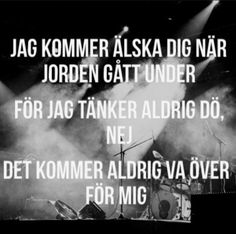Det kommer aldrig vara över för mig. Praise Quotes, Words Quotes, I Have Your Back, Believe In You, Love You, Clever Captions, Spiritual Words, Self Love Quotes, Music Lyrics