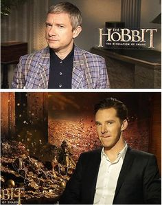 Martin Freeman and Benedict Cumberbatch. I love these two men. They are the picture of perfection...