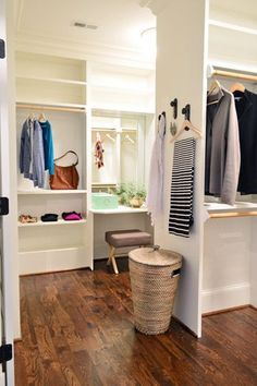 Walk in closet full