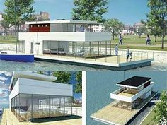 floating house concept russia