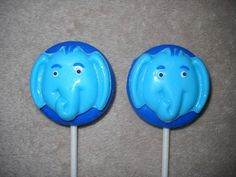 1 chocolate jungle safari oreo elephant horton lollipops lollipop | sapphirechocolates - Edibles on ArtFire