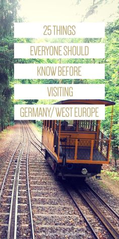 25 Things Everyone Should Know Before Visiting Germany/West Europe - Hey! Morningstar