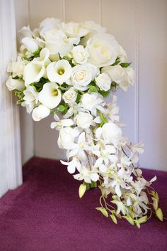 Gorgeous white bridal bouquet