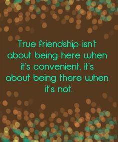 True friendship is