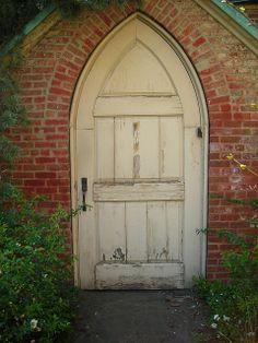 Gothic door, St Luke-in-the-Fields, Greenwich Village, NYC