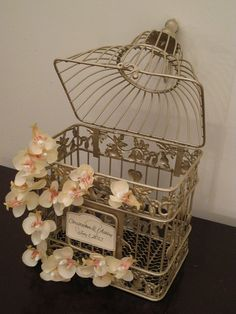 Champagne Bird Cage Wedding Card Holder / by SoClassicallyChic, $45.00