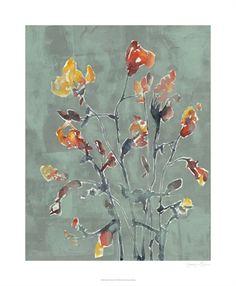 Wilflower Watercolors I, World Art Group, by Jennifer Goldberger