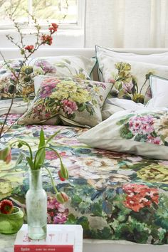 Plain Cushions, Designers Guild, Autumn Home, Linen Bedding, Dusk, Home Accessories, Fancy, Throw Pillows, Contemporary