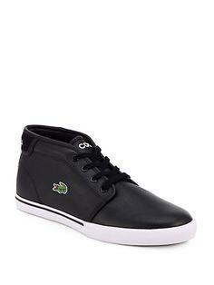 d76517d3a48ec Lacoste - Leather Lace-Up Sneakers